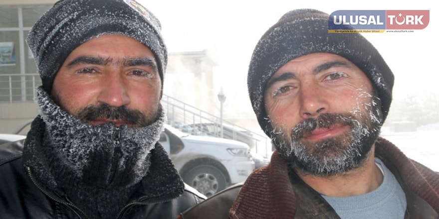 Soğuk hava Ardahan'da hayatı adeta esir aldı