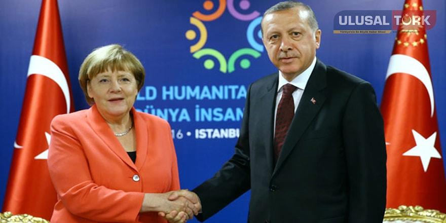 Merkel'e, Cumhurbaşkanı Erdoğan'dan taziye telefonu