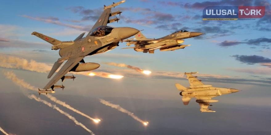 Türk ve Rus uçakları DEAŞ unsurlarını havadan vurdu