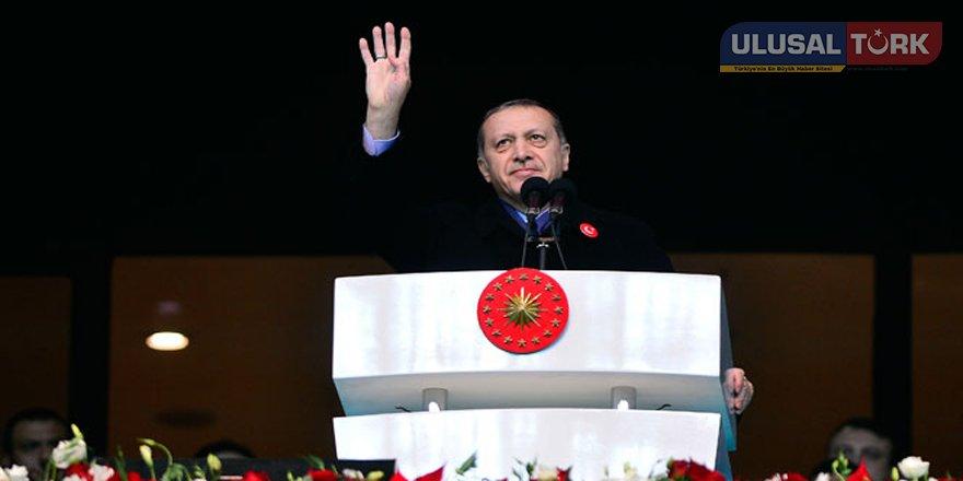 Cumhurbaşkanı'ndan tek vatan ve tek devlet vurgusu