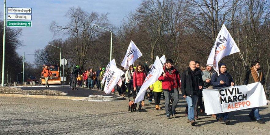 'Halep için sivil yürüyüş' hareketi Avusturya'da