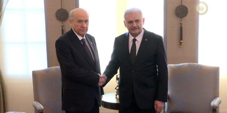 MHP lideri ve Başbakan'ın görüşmesi başladı