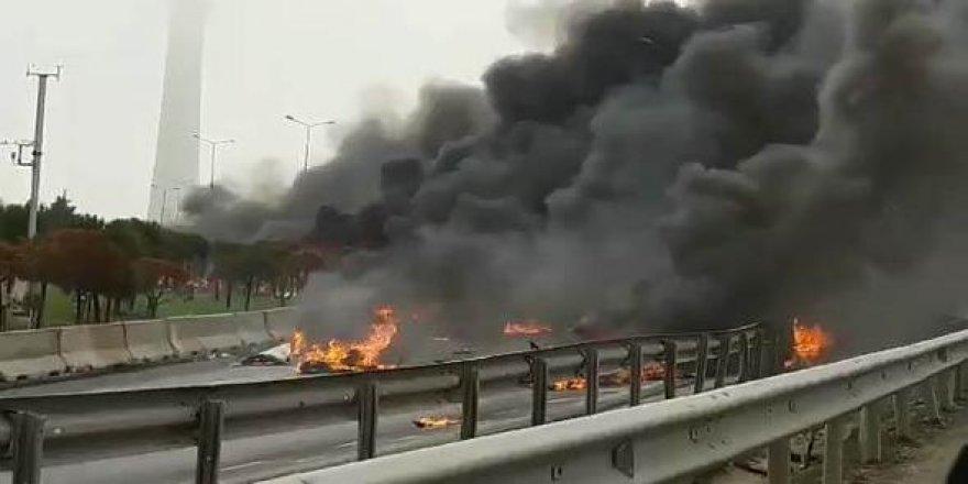 Eczacıbaşı çalışanlarını taşıyan helikopter düştü