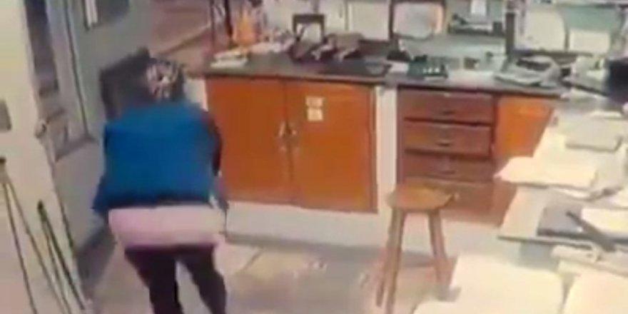 Brezilya'da soygun girişimi, kadın polis memuruna takıldı