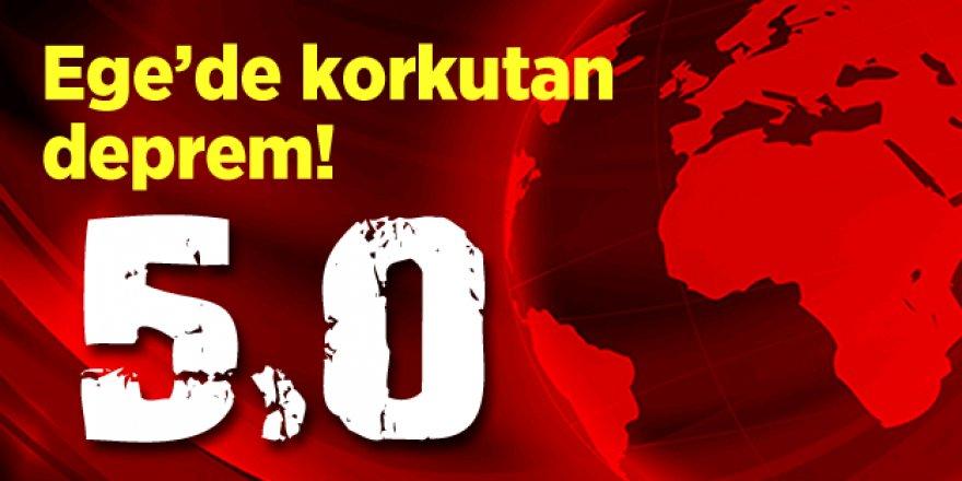 Ege'de deprem bitmek bilmiyor. Yine sallandı: 5.0!