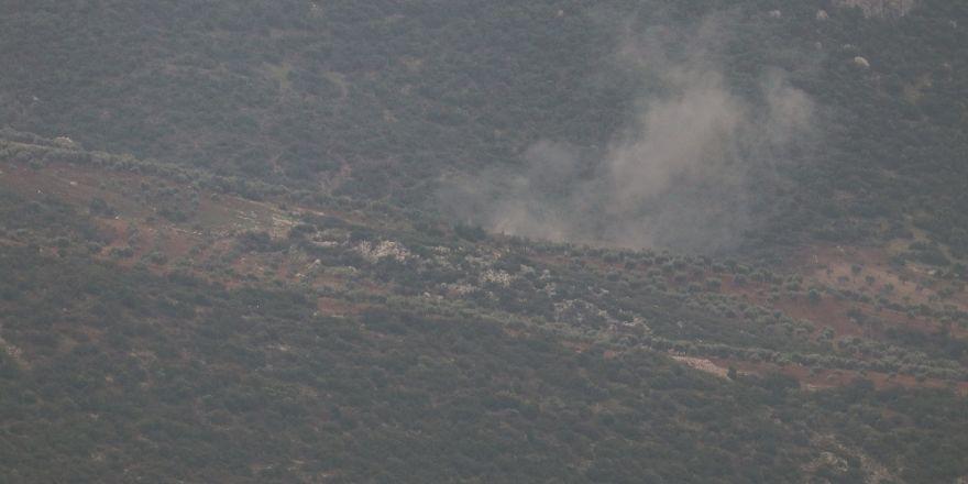 Afrin'deki hedeflere top atışı yapıldı