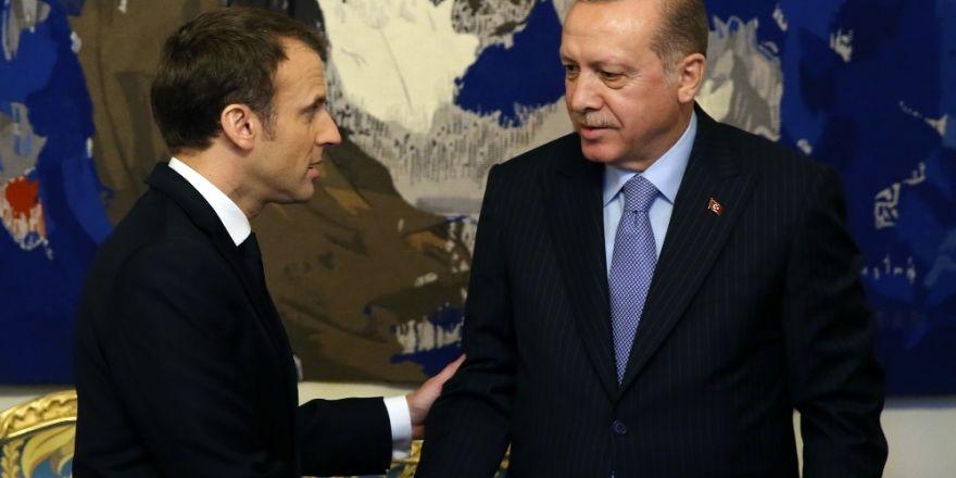Cumhurbaşkanı Erdoğan, Macron'la Zeytin Dalı'nı konuştu