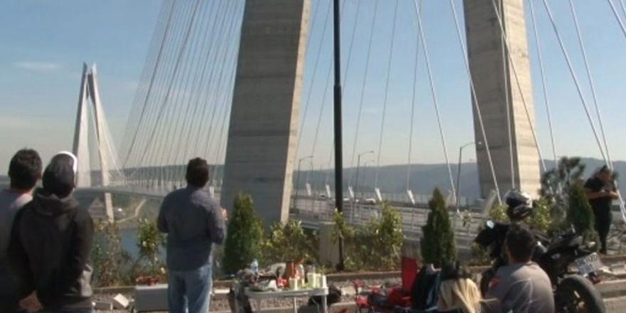 Yavuz Sultan Selim Köprüsü drone'lara hız pisti oldu