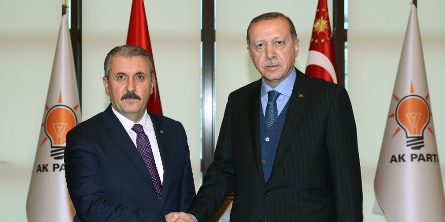 Erdoğan ile Mustafa Destici Görüşmesi Başladı