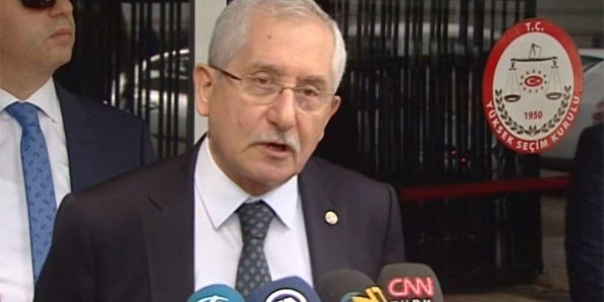 YSK Başkanı Sadi Güven Dört Parti Liderinin İmza Toplama Başvurusu Kabul Edildi