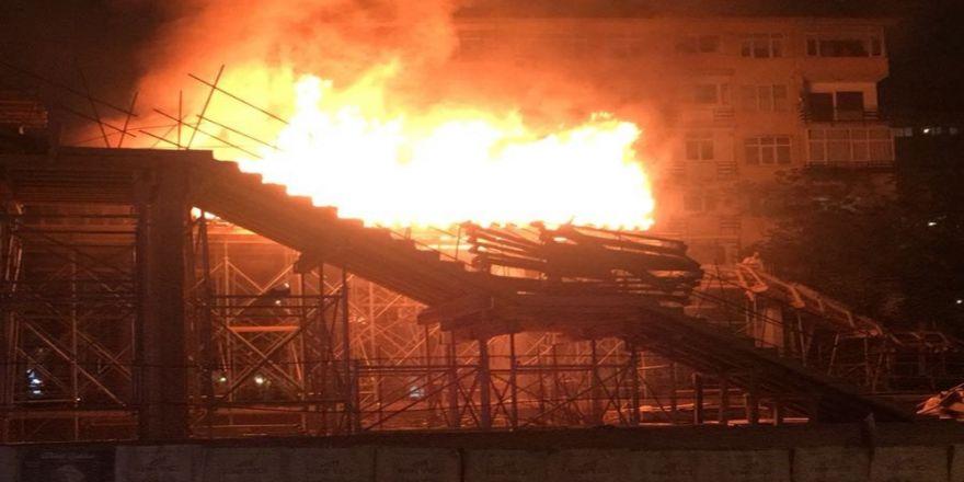 Hızlı Tren İnşaatında Yangın