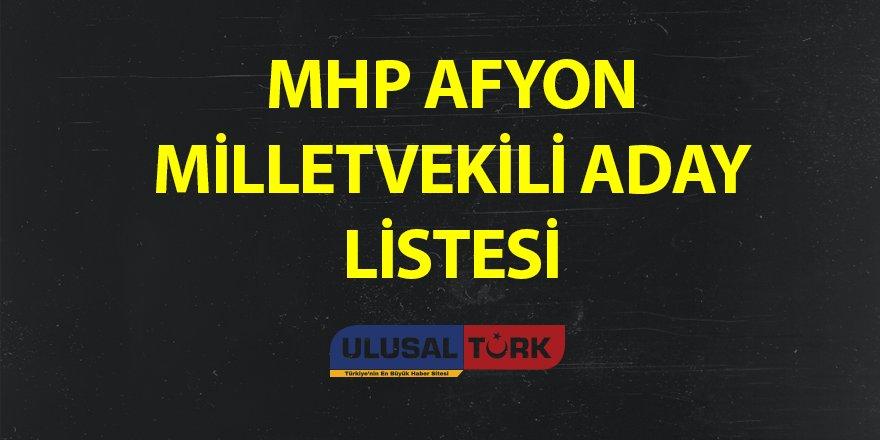 MHP Afyon Milletvekili Aday Listesi