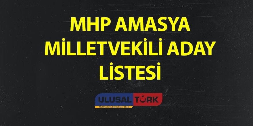 MHP Amasya Milletvekili Aday Listesi