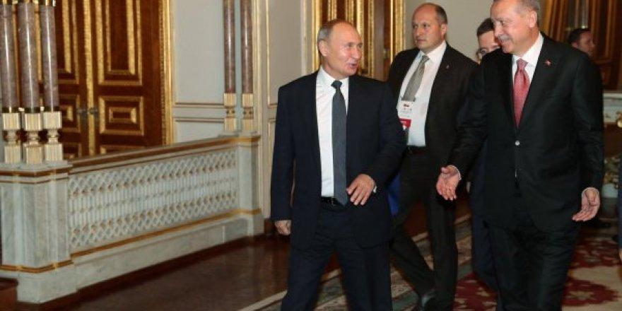 Başkan Erdoğan ve Vladimir Putin Mabeyn Köşkü'nde görüştü
