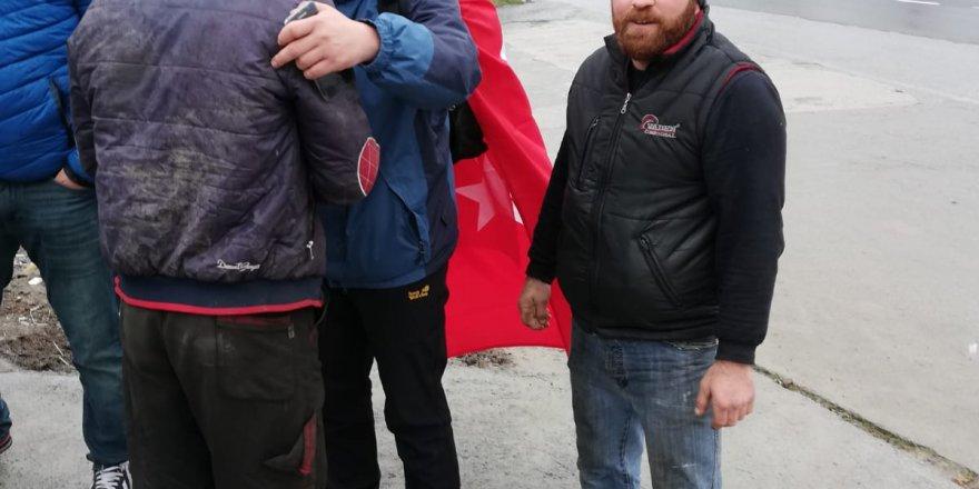 Kızıl Çin'in milyonlarca Doğu Türkistanlı Uygur Türklerine uyguladığı zulmü duyurmak için yürüyorlar