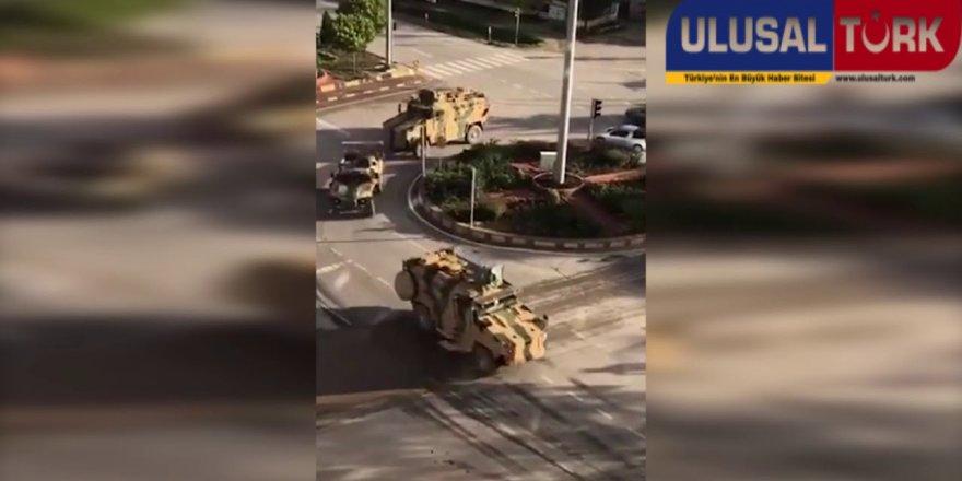 Cumhurbaşkanı Erdoğan'ın açıklamasından sonra zırhlı birlikler Suriye sınırında