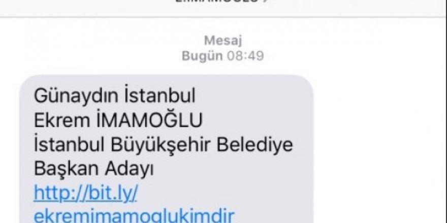 CHP'den İstanbul'daki seçmenlere Ekrem İmamoğlunu tanıtan sms gönderdi.