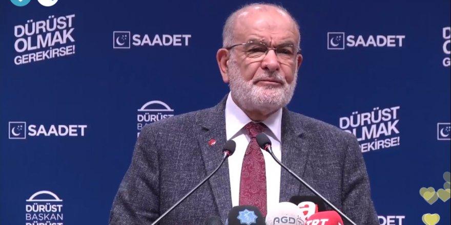 Saadet Partisi Genel Başkanı Temel Karamollaoğlu:Anketlerde öne çıkıyoruz