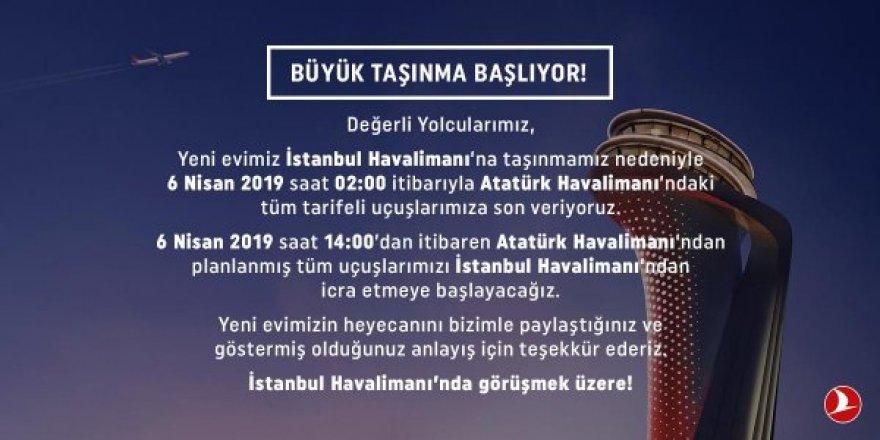 Türk Hava Yolları yolcuları uyardı: Büyük taşınma 6 Nisan'da