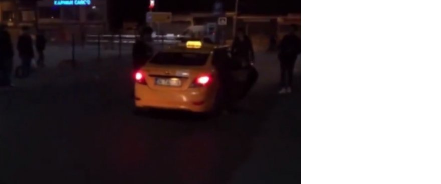 Yolcu döven 2 taksicinin taksisi 30 gün bağlandı