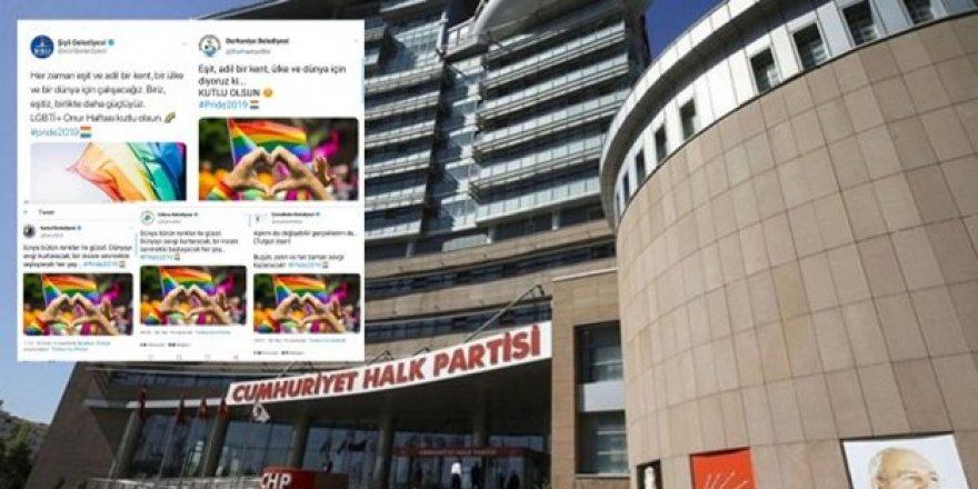 CHP'li belediyelerden skandal LGBT paylaşımları