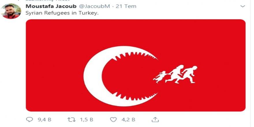 ABD'de yaşayan Suriye uyruklu Karikatürist Moustafa Jacoub'dan alçak paylaşım