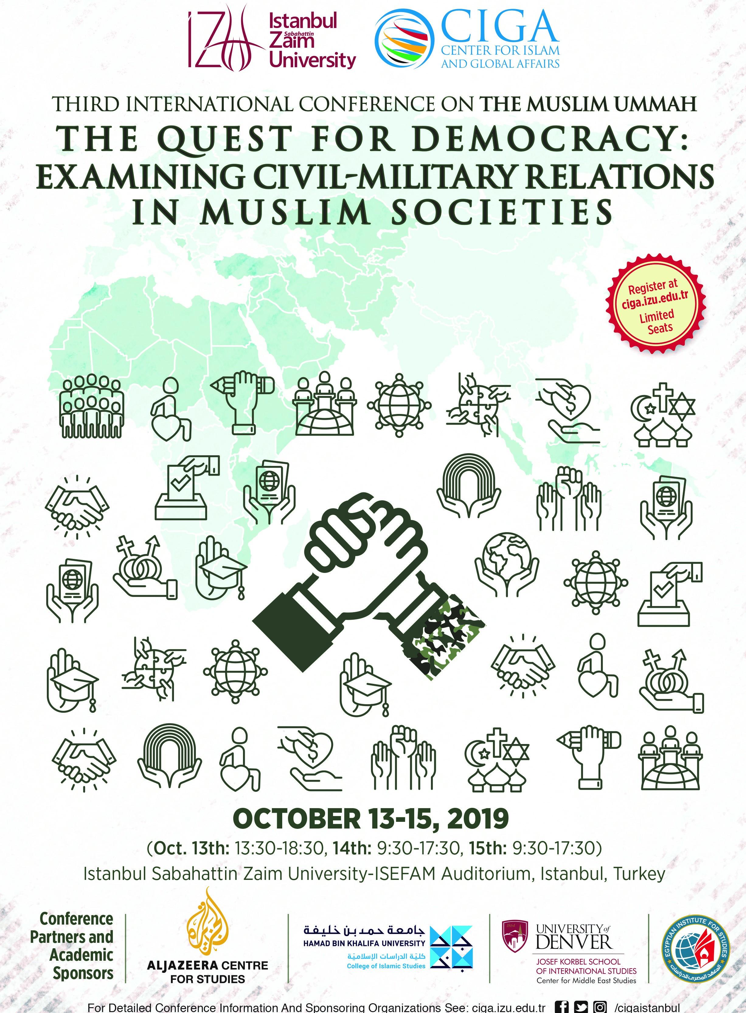 Bu yıl üçüncüsü düzenlenecek olan Uluslararası İslam Dünyası Konferansı başlıyor