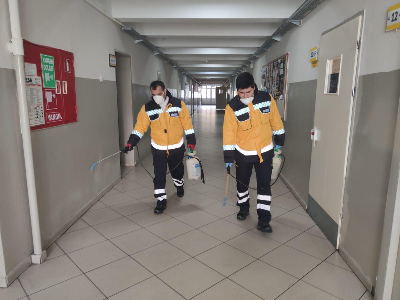 Beşiktaş'taki bütün okullar dezenfekte edildi