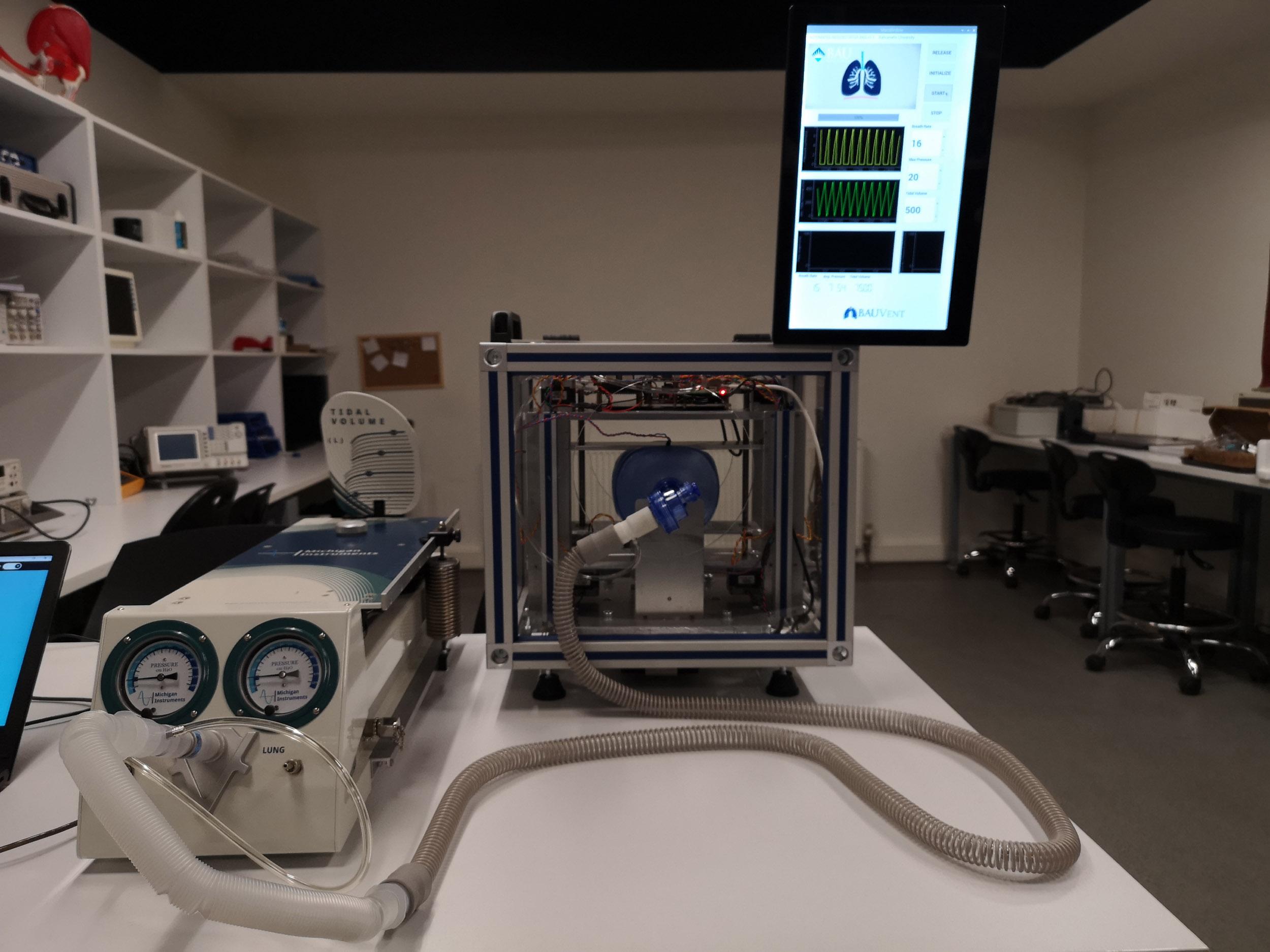 Türk mühendislerden yüzde yüz yerli Otomatik Suni solunum robotu