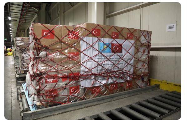 COVİD19ile mücadelede kullanılacak olan tıbbi yardım malzemeleri Kazakistan'a gönderildi.