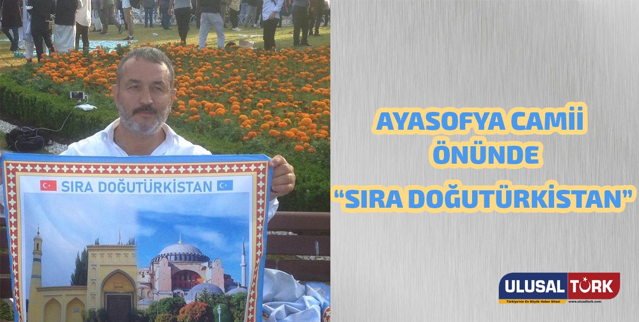 """Ultraslan tribün liderinden Ayasofya Camii önünde """"Sıra Doğu Türkistan"""" paylaşımı"""