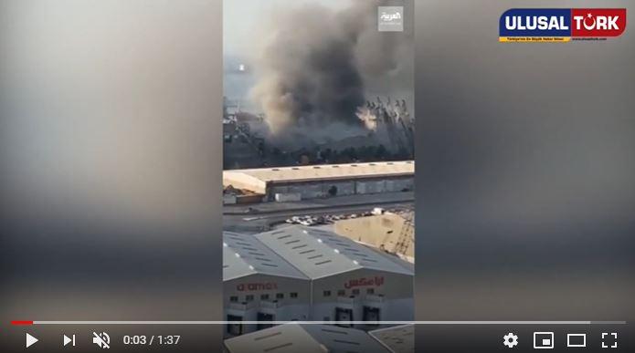 Beyrut'taki patlama anının en yakın görüntüsü ortaya çıktı