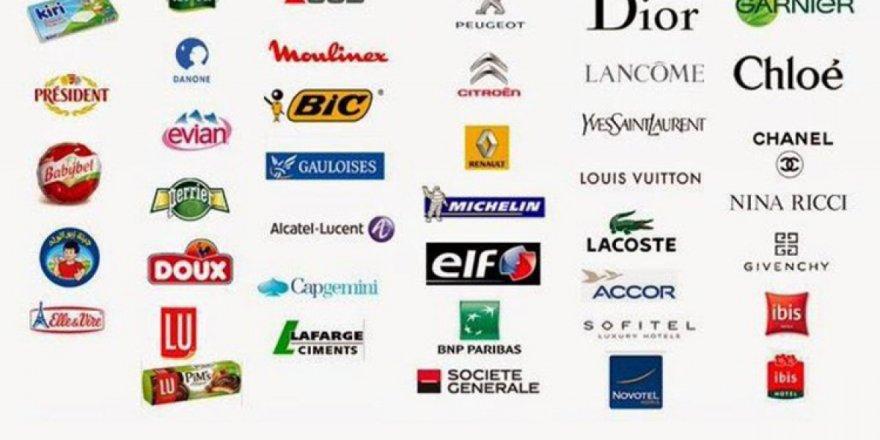 İşte Fransız mallarının tüm listesi...