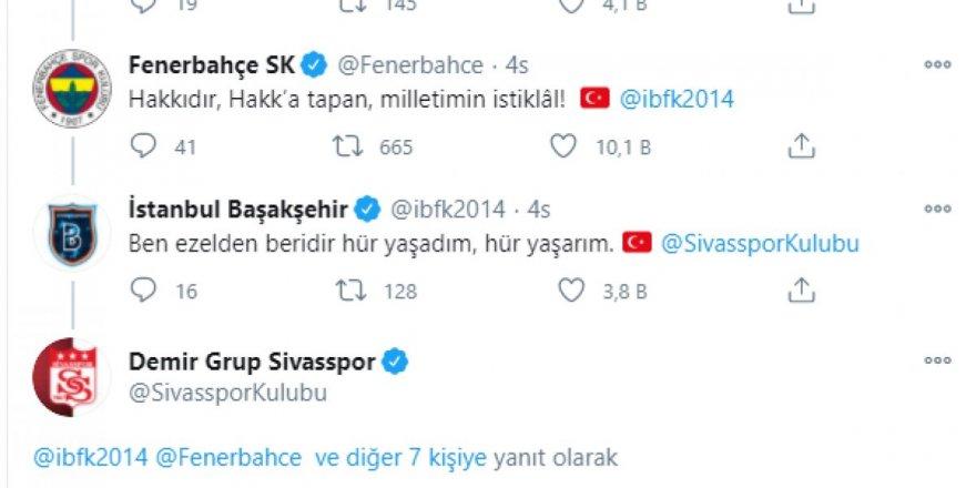 Futbol Kuluplerinden İstiklal Marşı paylaşımları beğeni topladı