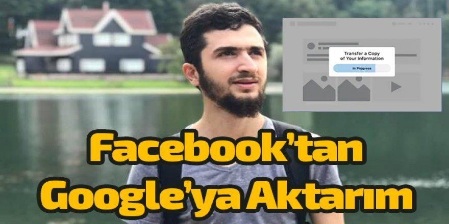 Erdem Can:Facebook verilerinizi kolay bir şekilde Google'da aktarabileceksiniz