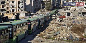 Halep'ten tahliyeler sürüyor
