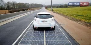 Dünyanın ilk güneş enerjili yolu Fransa'da hizmete girdi