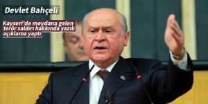MHP Lideri Bahçeli'den yazılı açıklama