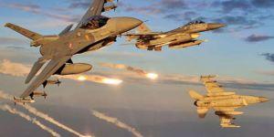 Türk jetleri tarafından 7 hedef bombalandı