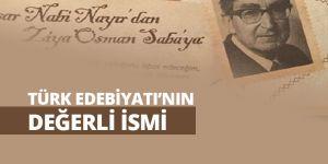 Türk Edebiyatının Değerli İsmi