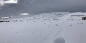 Kayseri'de ilginç hareket eden kar topları
