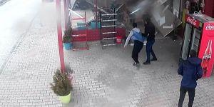 Konya'da Faciadan kıl payı kurtuldular: O anlar kamerada !