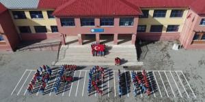 Öğrencilerden Mehmetçik'e 'Afrin' koreografisiyle destek