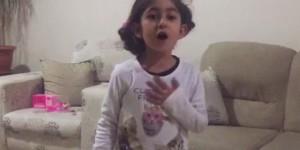 Küçük kız okuduğu İstiklal Marşı'yla mest etti