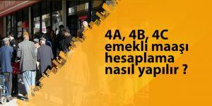 4A, 4B, 4C emekli maaşı hesaplama nasıl yapılır ? Sorgulama Ekranı