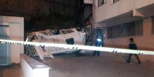 Kağıthane'de Servis Aracı 20 Metreden Düştü