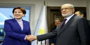 Saadet Partisi lideri Karamollaoğlu ile İYİ Parti lideri Akşener bir araya geliyor.