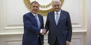 Yıldırım Tataristan Cumhurbaşkanı İle Bir Araya Geldi