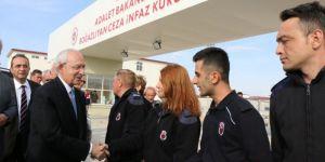 CHP Genel Başkanı Kemal Kılıçdaroğlu, İlçe Başkanını Cezaevinde Ziyaret Etti