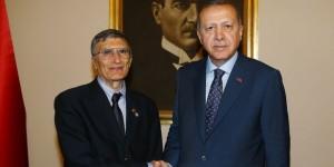 Erdoğan, Nobel Ödüllü Bilim Adamı Aziz Sancar'ı Kabul Etti